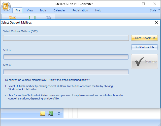Stellar OST to PST Converter full screenshot